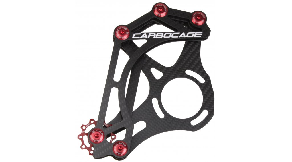 Carbocage 4X carbon chain guide ISCG 34-38T red
