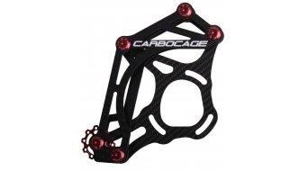 Carbocage FR Carbon Водач за верига ISCG05 34-38 зъба, red