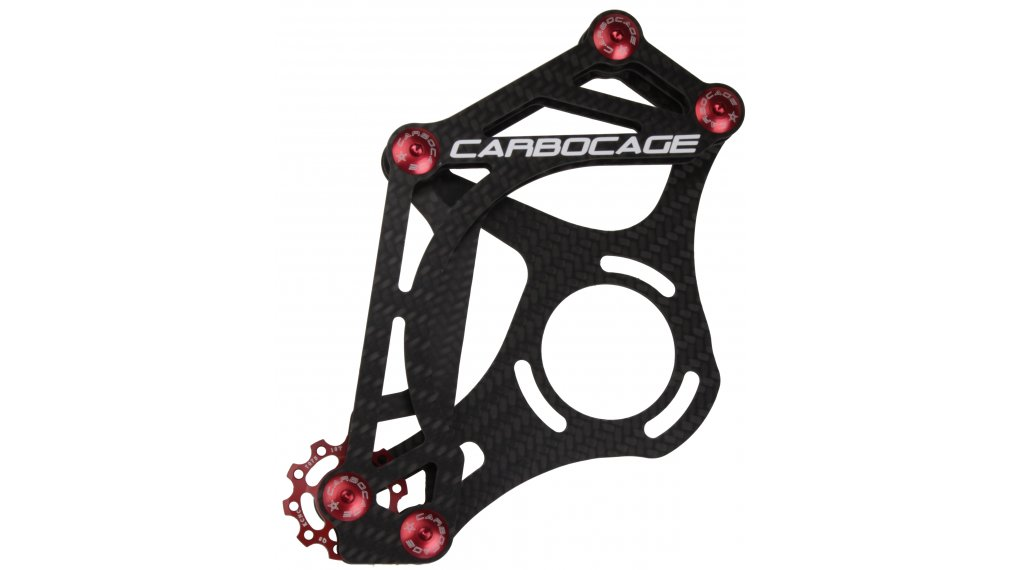 Carbocage FR Carbon Kettenführung ISCG 34-38T red