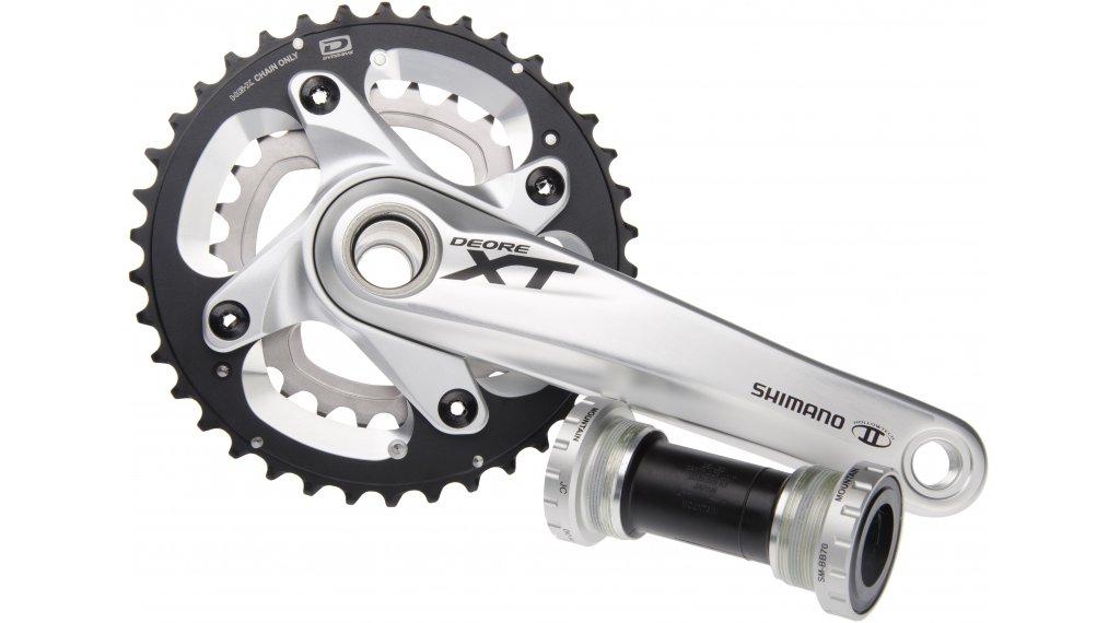 Shimano XT FC-M785 crank set silver 175mm 38-26T 10 speed (incl. HT-II bottom bracket )