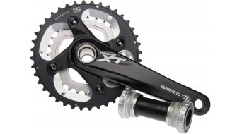 Shimano XT FC-M785 crank set black 10 speed (incl. HT-II bottom bracket )