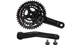 SRAM S600 SquareTaper 3.0 crank set 175mm 8 speed 42/32/22  teeth 64/104mm  BCD (without bottom bracket ) blast black