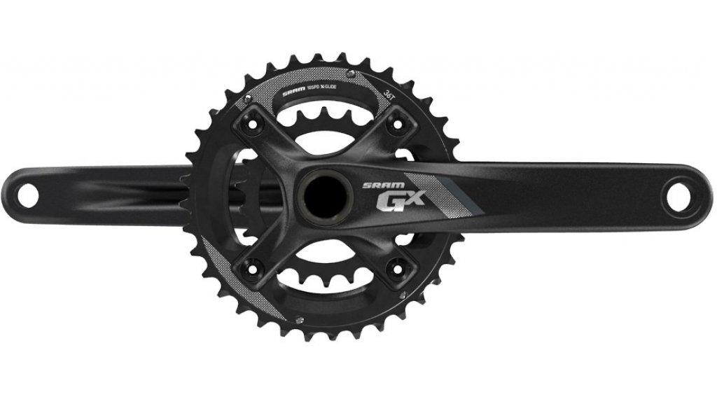 SRAM GX 1000 2.2 BB30 Kurbelgarnitur 170mm 10-fach 22/36 Zähne 64/104mm Lochkreis (ohne BB30 Innenlager) black