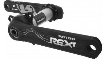 ROTOR REX 1.1 INpower XC1 MTB 1-fach Leistungsmess-Kurbel 30mm-Welle (76mm) schwarz/silber