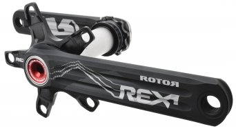 ROTOR REX 1.2 XC2 MTB 2-fach Kurbel (110/60mm) schwarz/rot