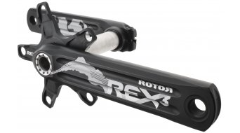 ROTOR REX 3.2 XC2 MTB 2-fach Kurbel 170mm 24mm-Welle (110/60mm) schwarz/silber