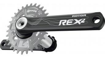 ROTOR REX 2.1 XC1 MTB 1x11 Kurbel (4-Arm 76mm) schwarz/silber