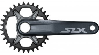 Shimano SLX FC-M7130-1 Kurbel 12-fach (ohne Innenlager/ohne Kettenblatt) schwarz/grau