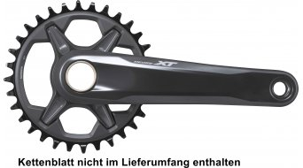 Shimano XT FC-M8100-1 XC MTB crank set 1x1duplex 170mm chain lines : 52mm black (without chain ring & bottom bracket )