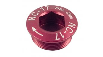 NC-17 Hollow II guarnitura vite rosso M20x1