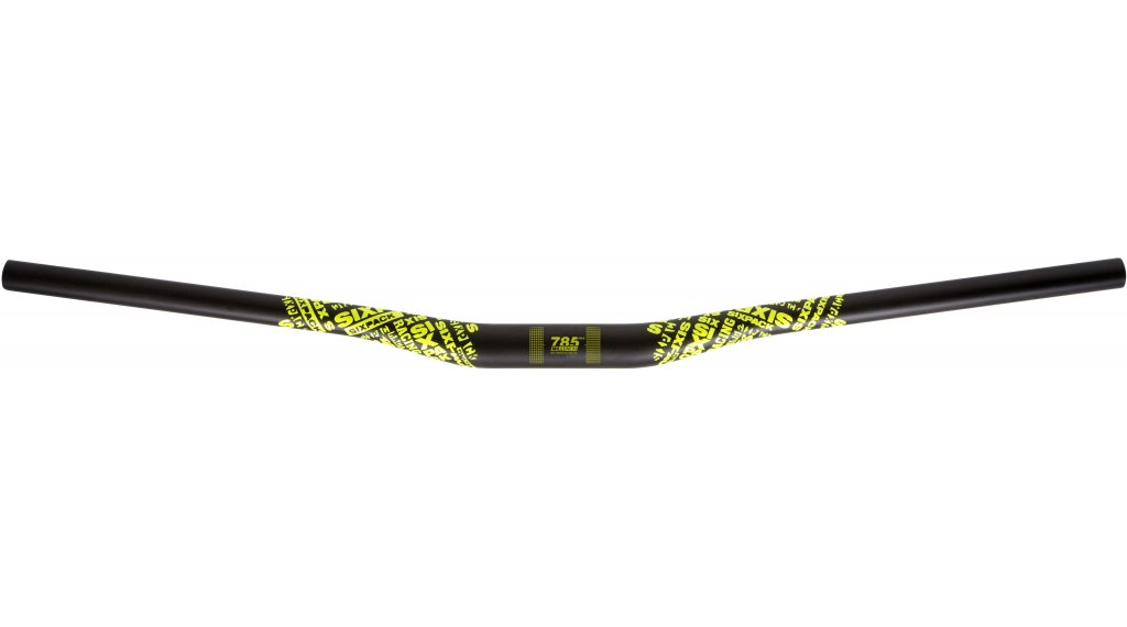 Sixpack Lenker Millenium785 Riser 31.8 x 785mm Carbon neon-gelbe decals