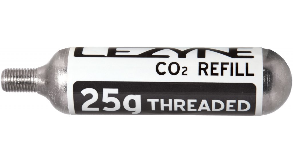 Lezyne 25g Gewinde CO2 Kartusche (5er Pack) silber