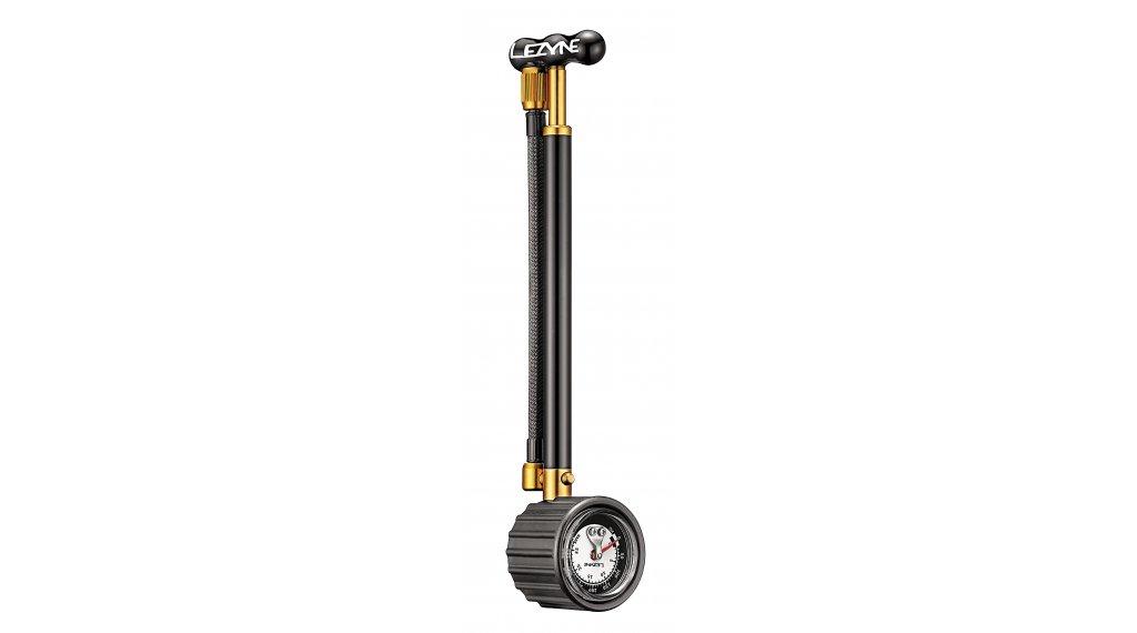 Lezyne Shock Drive Dämpferpumpe Minipumpe Fahrradpumpe schwarz/gold