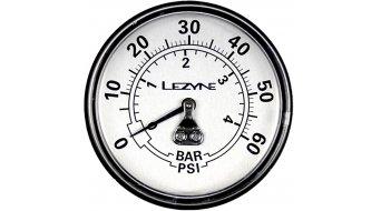 "Lezyne pressure gauge 2.5"" 60PSI for all Dirt Floor pump black/silver"