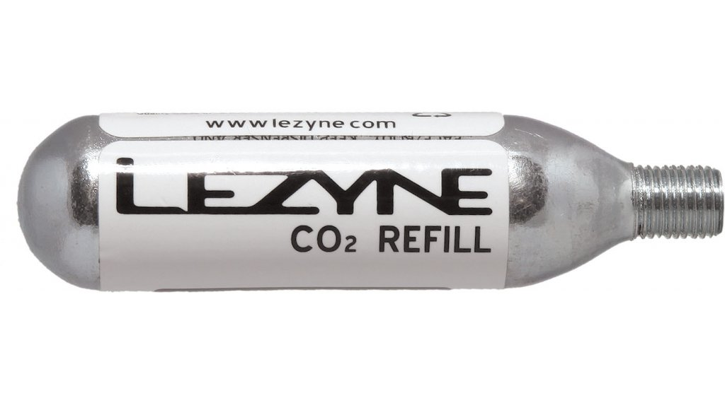 Lezyne 16g Gewinde CO2 Kartusche (5er Pack) silber