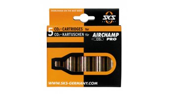 SKS Airchamp Pro CO2 Kartuschen 5er Set gewindelos 16gr CO2