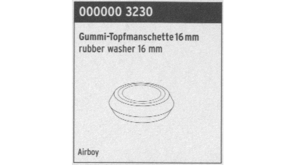 SKS Ersatzteil Gummi-Topfmanschette 16mm für Airboy