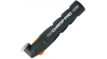 SKS Airchamp Pro Fahrradpumpe CO2-Kartuschenpumpe 150mm inkl. Cliphalter/16g Kartusche (reversibel Ventilkopf)