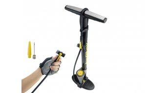 Topeak JoeBlow Max floor pump Twin Head- head