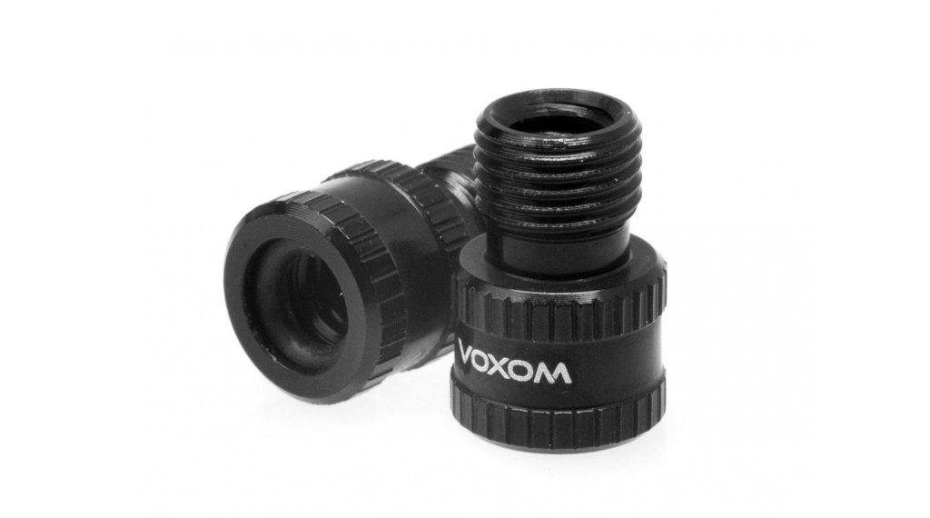 Voxom VAD1 Ventiladapter (Presta frz.Ventil zu Schrader Auto Ventil) schwarz