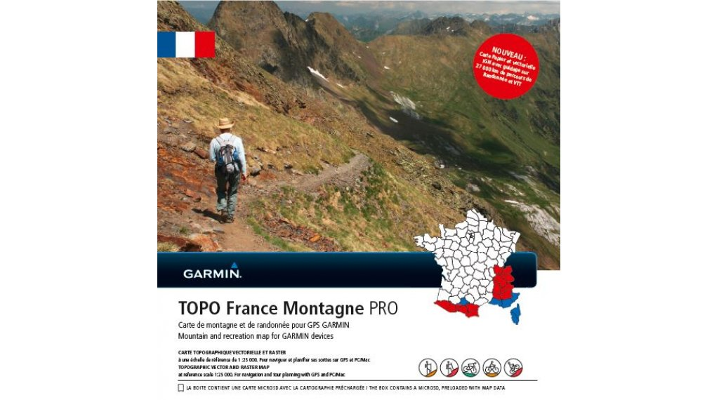 Garmin TOPO 法国 Montagne PRO (microSD/SD-Karte)