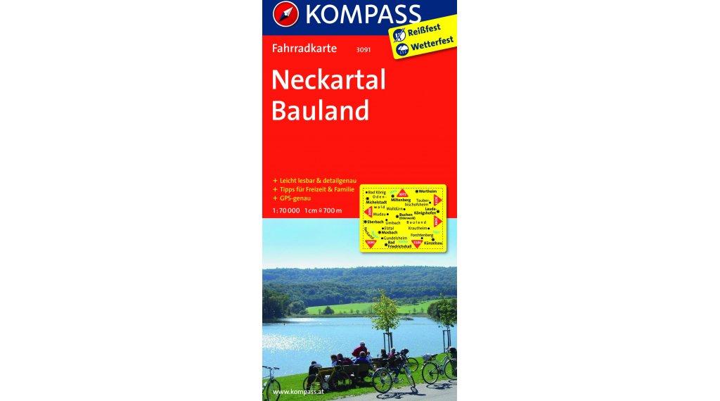 Kompass Radwanderkarte Alemania Neckartal-Bauland- 1:70.000