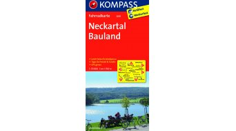 Kompass bicycle tour map Germany neckartal-Bauland- 1:70.000