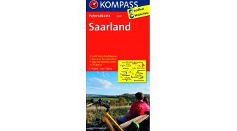 Kompass bicycle tour map Germany Saarland- 1:70.000