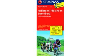 Kompass bicycle tour map Germany Heilbronn/Pforzheim/Stromberg/Löwen stone er Berge- 1:70.000
