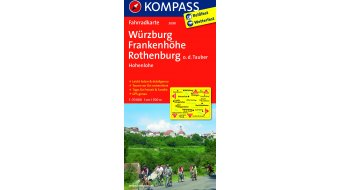 Kompass bicycle tour map Germany Würzburg/Frankenhöhe/Rothenburg- 1:70.000