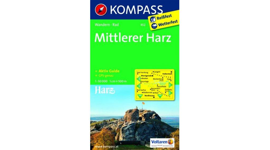 Kompass Wanderkarte del medio Harz (incl. Aktiv-Guide)- 1:50.000