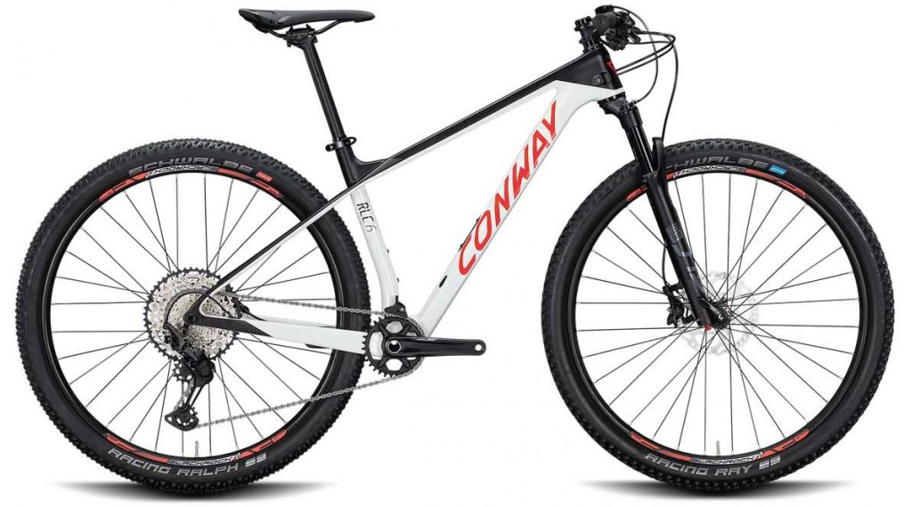 "Conway RLC 6 29"" MTB Komplettrad Gr. S white/black matt Mod. 2020"