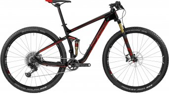 Bergamont Fastlane MGN carbon 29 MTB bike black/red (mat) model 2017