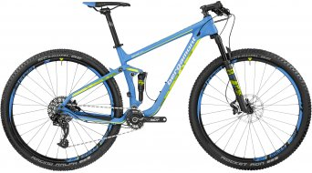 Bergamont Fastlane Team carbon 29 MTB bike cyan/neon yellow (matt) 2017
