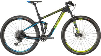 "Bergamont Fastlane Team carbon 29"" MTB bike black/neon yellow/cyan (mat) model 2018"