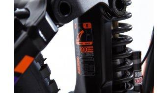 KONA Supreme Operator 26 bici completa mis. S carbonio/black/team arancione/purple mod. 2016
