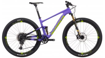 "KONA Hei Hei Race Supreme 29"" bike matt purple & black/black, lime & purple decals 2018"