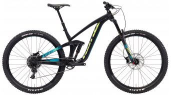 "Kona Process 153 AL 29"" Komplettrad matt black/aqua & green decals Mod. 2018"