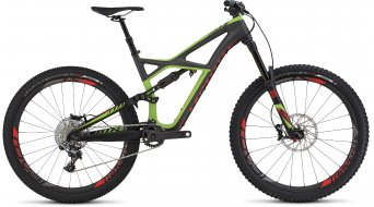 Specialized S-Works Enduro FSR Carbon 650B / 27.5 MTB Komplettbike satin charcoal tint carbon /monster green/rocket red Mod. 2016