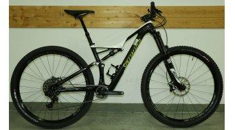 Specialized Stumpjumper FSR Expert Carbon 29 MTB Komplettbike Gr. M white/carbon/hyper green Mod. 2017 - TESTBIKE Nr. 38