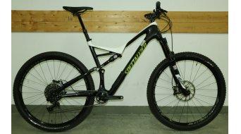 Specialized Stumpjumper FSR Expert Carbon 29 MTB Komplettbike Gr. XL white/carbon/hyper green Mod. 2017 - TESTBIKE Nr. 37