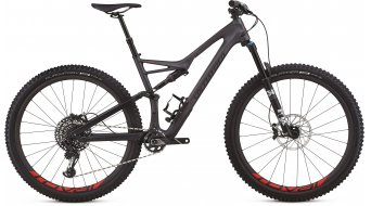 "Specialized Stumpjumper FSR Expert Carbon 29"" MTB Komplettrad satin silver tint carbon/black/rocket red Mod. 2018 - TESTBIKE"