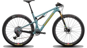 """Santa Cruz Blur 3 CC TR 29"""" MTB bici completa XX1 AXS- kit/Reserve-ruote complete . gloss aqua mod. 2020"""