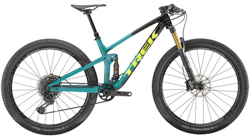 """Trek Top Fuel 9.9 XX1 29"""" MTB bici completa mis. S Trek black to teal fade mod. 2020"""