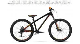 "Dartmoor Streetfighter 26"" MTB Dirt komplett kerékpár Méret unisize fekete/mimai vice 2019 Modell"