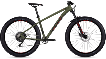Ghost Roket 5.7+ AL U 27.5+ MTB bici completa . army green/night black/riot red mod. 2019
