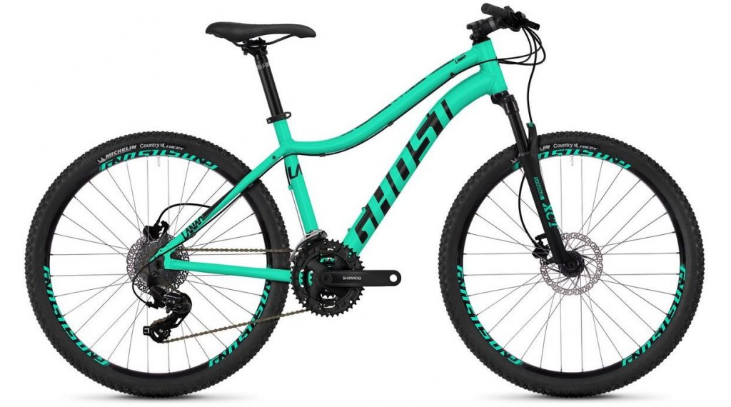"Ghost Lanao 1.6 AL W 26"" MTB Komplettrad Damen Gr. XXS jade blue/night black Mod. 2019"