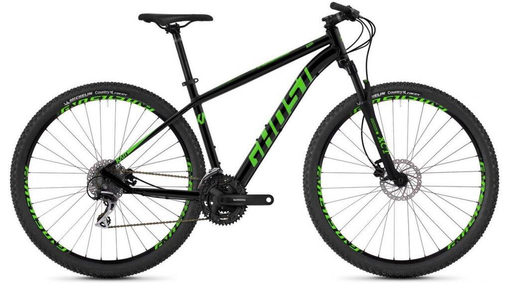 "Ghost Kato 2.9 AL and 29"" MTB bike size M night black/riot green 2019"
