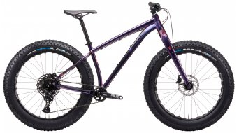 KONA Woo 26 Fat bike bici completa mis. S gloss prism purple-blu mod. 2021