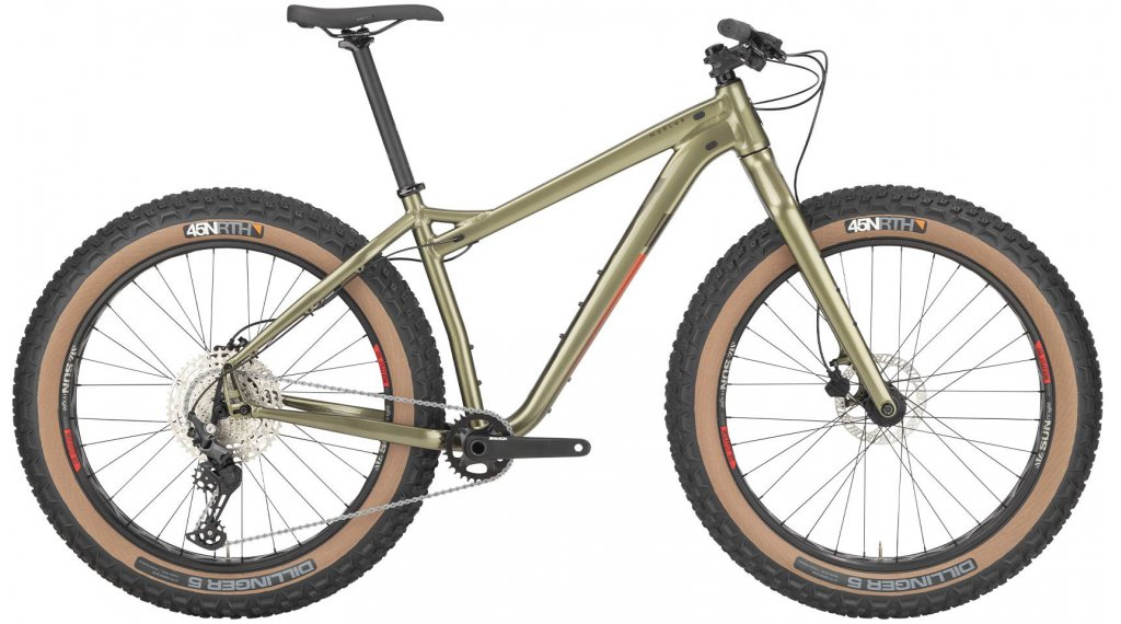 Salsa Mukluk alluminio Deore 26 Fat bike bici completa mis. XS verde mod. 2021